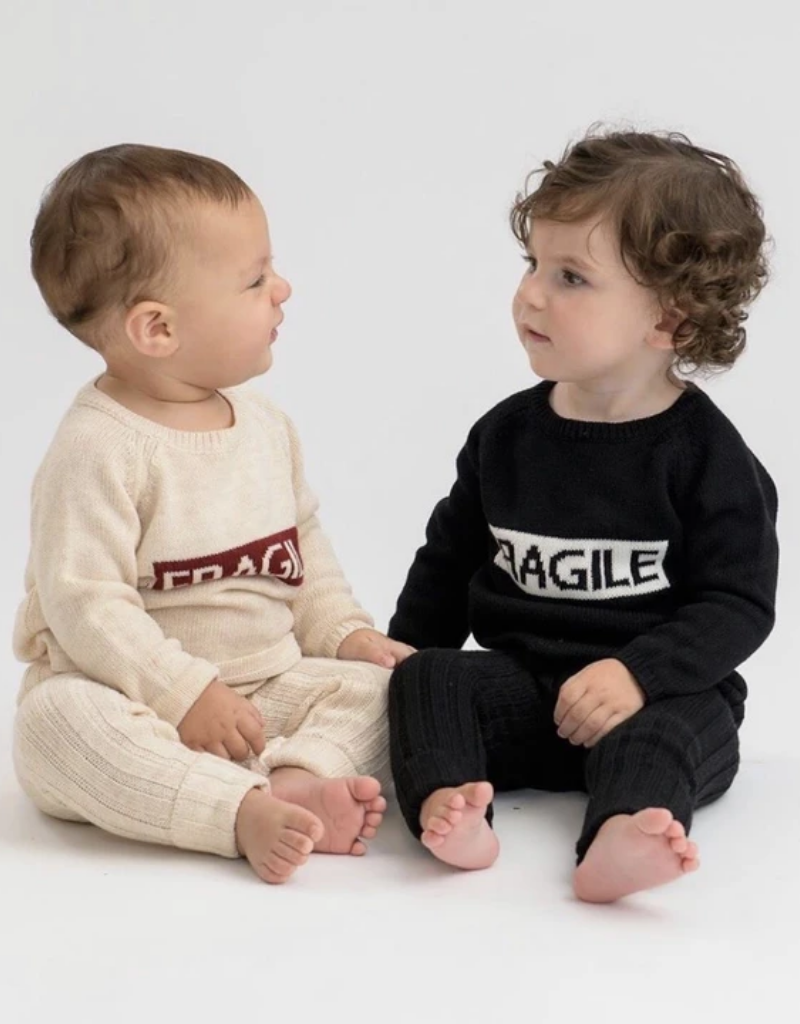 fragile Fragile Baby Knit Set