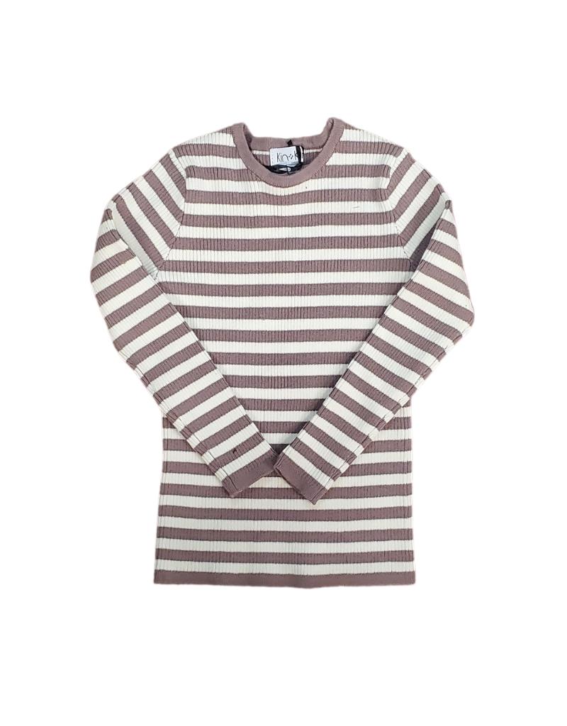 Kin + Kin Kin + Kin Striped Ribbed T-Shirt