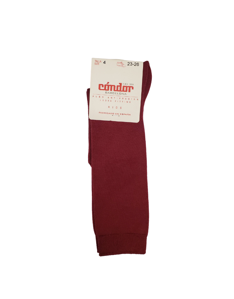 "Condor Condor ""Warm Tones"" Solid Cotton Knee Socks 2019/2"