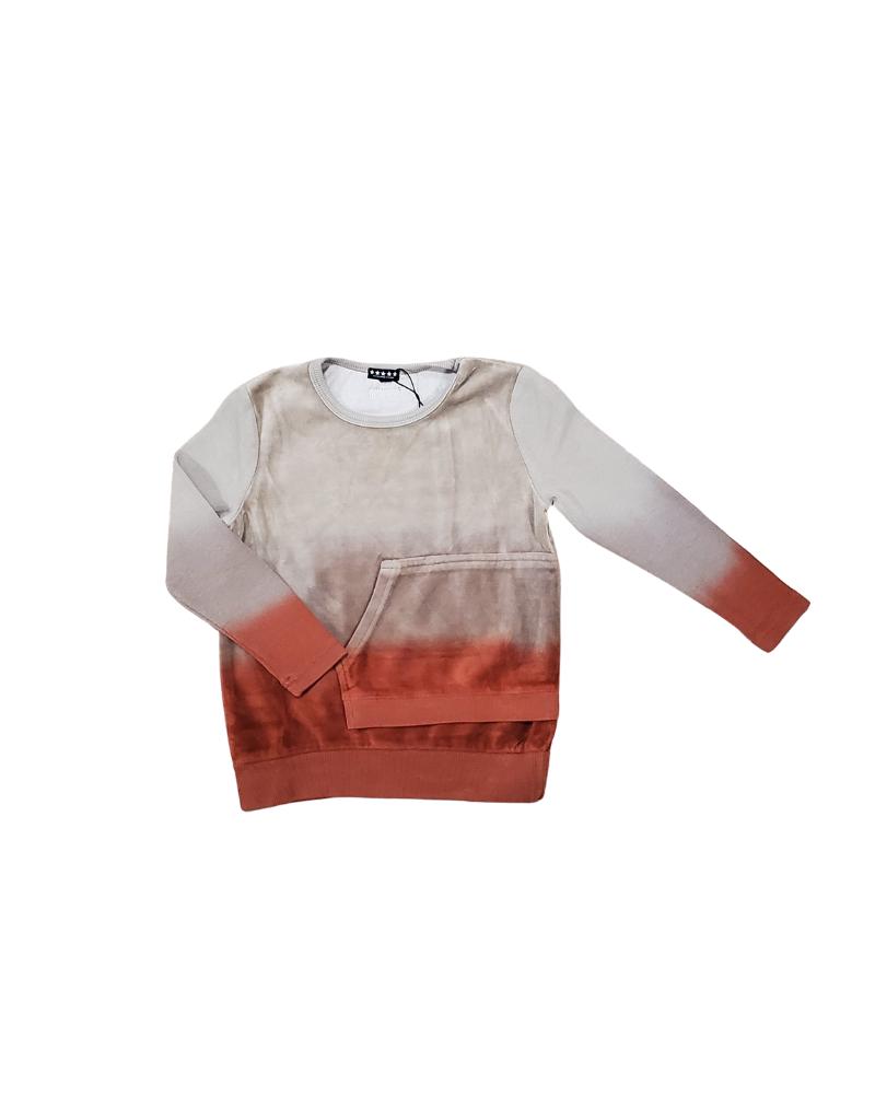 Lollypop Five Stars Dip Dye Velour Sweater