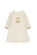 Bon Rever Bon Rever Ivory with Gold Cherry Nightgown