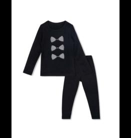 Bon Rever Bon Rever Black Bow Houndstooth Pajama