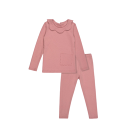 Bon Rever Bon Rever  Scalloped Pocket Pajama
