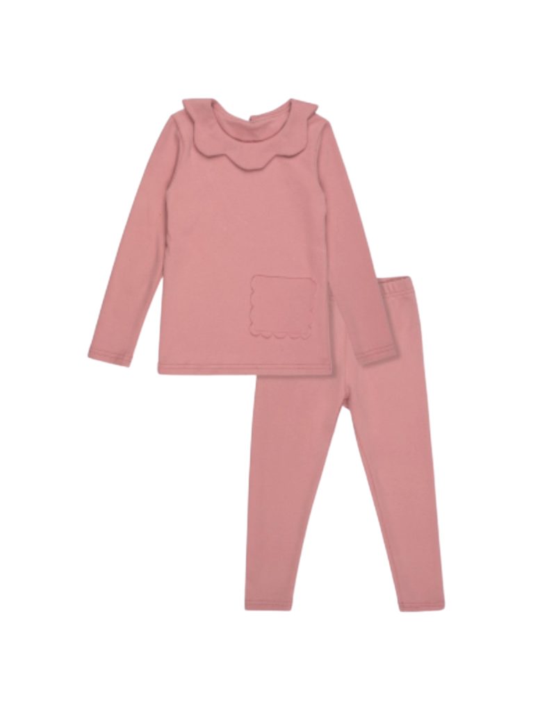 Bon Rever Bon Rever  Scalloped Pocket Pajama