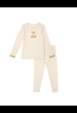 Bon Rever Bon Rever Ivory with Gold Cherry Pajama