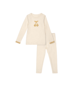Bon Rever Bon Rever Ivory with Gold Cherry Pajama