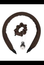 Knot Knot Herringbone Headband and Scrunchie