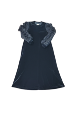 Cindy Couture Cindy Girls Dress with Mesh Ruffles