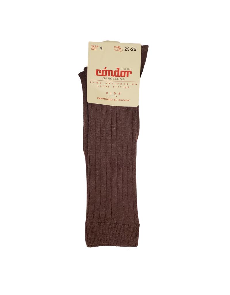 """Condor Condor """"Earth Tones""""  Ribbed Cotton Knee Socks - 2016/2"""
