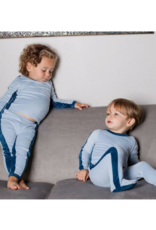 Cuddle and Coo Cuddle and Coo Boys Velour Stripe Pajama
