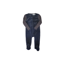 fragile Fragile Baby Romper with Mix Rib Knit Sleeves