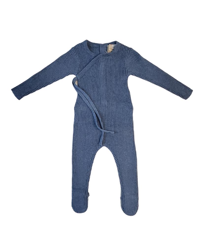Maniere Noovel Mock Kimono Knit Footie