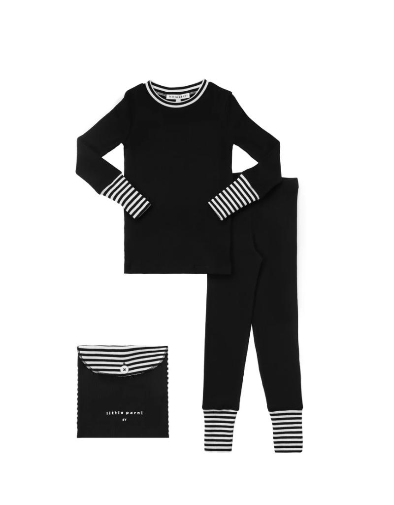 Parni Parni Striped Cuff  Pajama