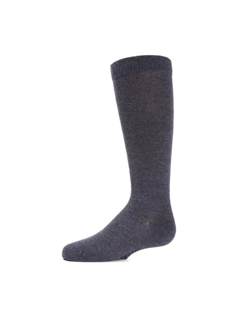 Memoi Memoi Cotton Basic Knee Socks - MK-5056