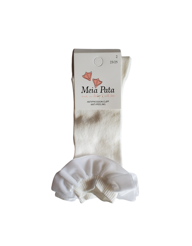 Meia pata Meia Pata Knee Sock with Velvet Shirr-1073M