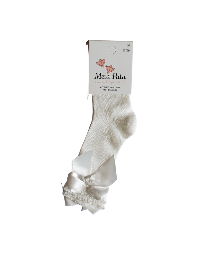 Meia pata Meia Pata Knee Sock Dowel with Satin Bow -1065M