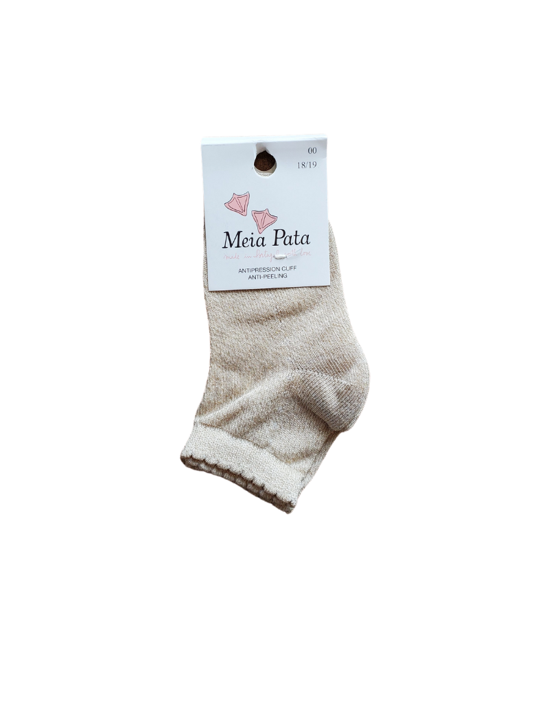 Meia pata Meia Pata Peaked  Short Socks in Lurex -3001S