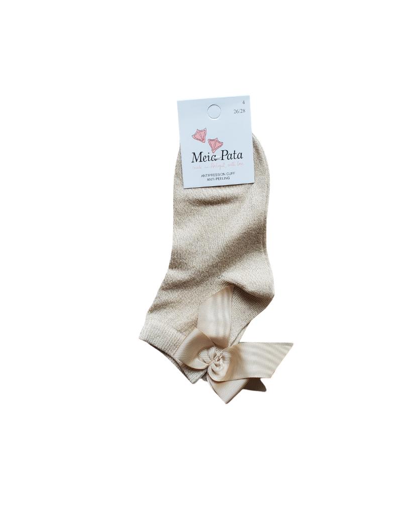 Meia pata Meia Pata Short Socks with Grosgrain Bow -3010S