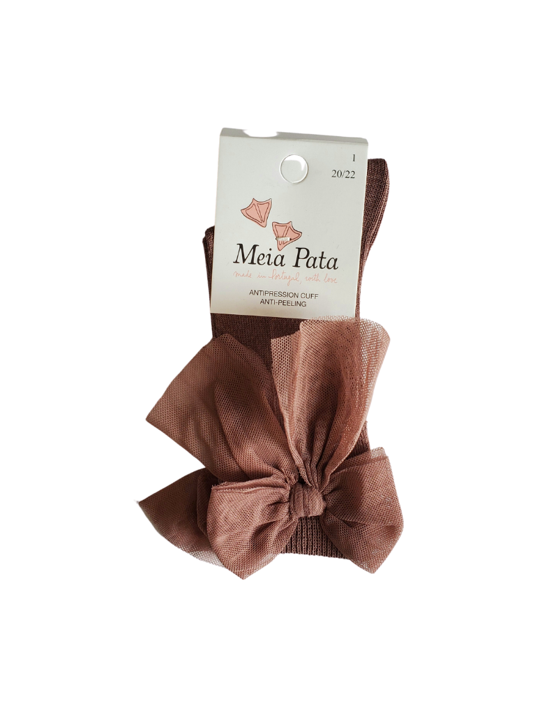 Meia pata Meia Pata Knee Sock with Tule Bow-1066M