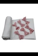 Petals & Peas Petals and Peas Ribbed  Triple Bow  Blanket