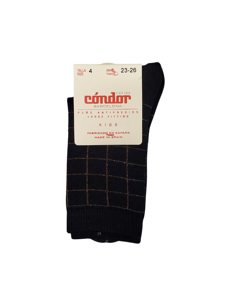 Condor Condor Lurex Checked Sock-3872/4