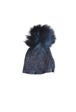 fragile Fragile Baby Rib Knit Hat with Pom Pom