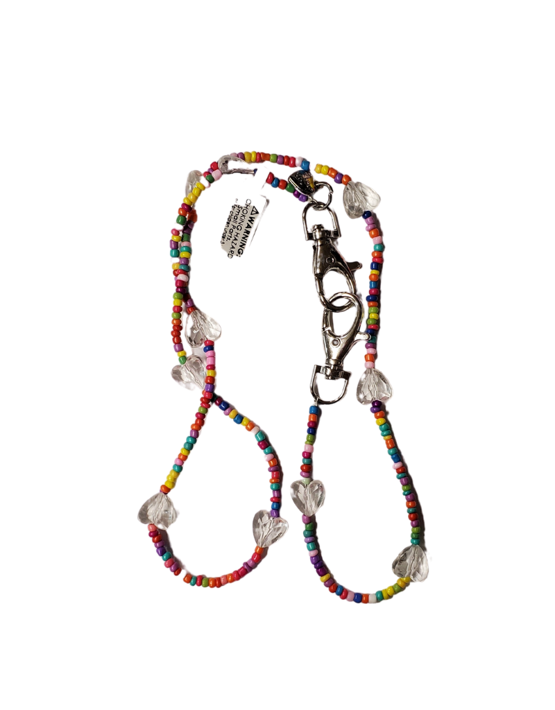 Bari Lynn Bari lynn Face Mask Chain Clear Beads