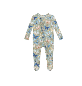 Posh Peanut Posh Peanut Lucy Footie Ruffled Zippered One Piece