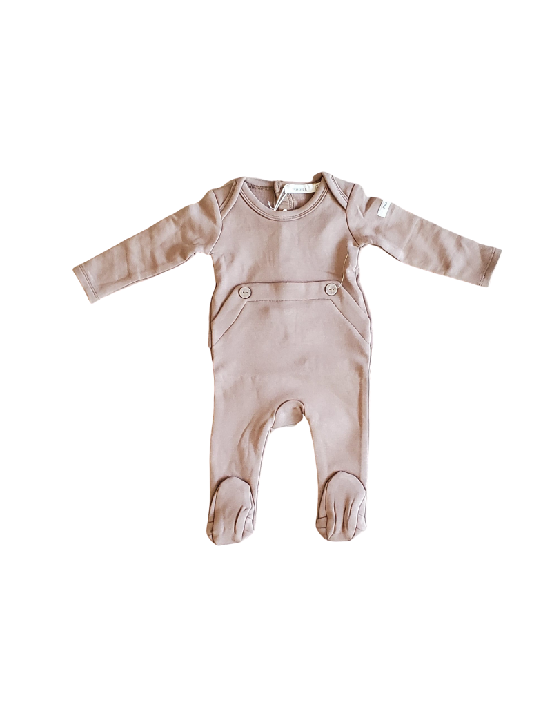 fragile Fragile Baby Romper with Wooden Button