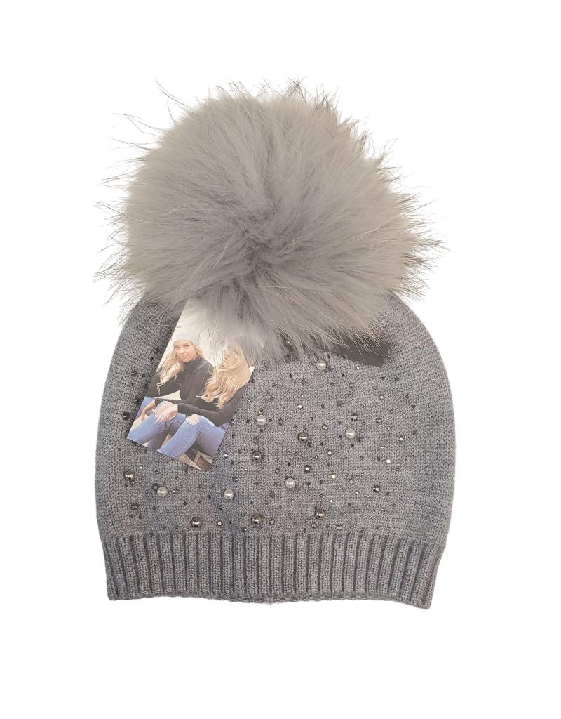 Maniere Maniere Women  Pearl Studded Wool Hat