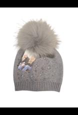 Maniere Maniere Girl Pearl Studded Wool Hat