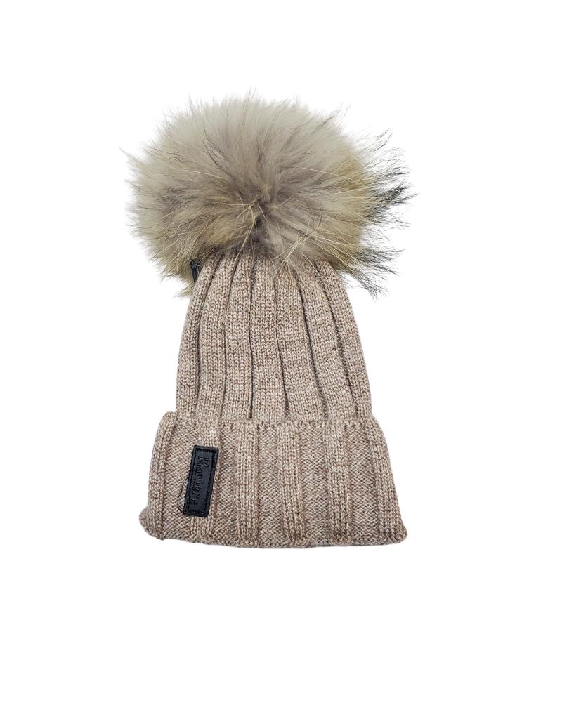 Maniere Maniere  Ribbed Merino Wool Knit  Hat