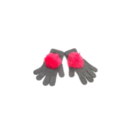 Maniere Maniere Girl Faux Fur Pom Gloves
