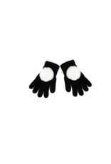 Maniere Maniere Girl Faux Fur Pom Gloves