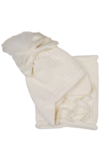 Barbaras Barbaras Baby Bow Wool Hat with Snood
