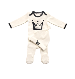 So Loved So loved Baby Romper Set with Contrast Trim