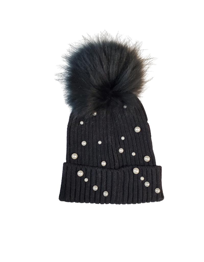 Bari Lynn Bari  Lynn Fur Pearl Winter Hat