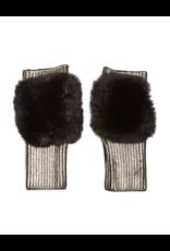 Jocelyn Jocelyn Metallic Mittens with Faux Fur