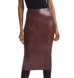 Commando Commando Skirt Faux Leather Animal Midi