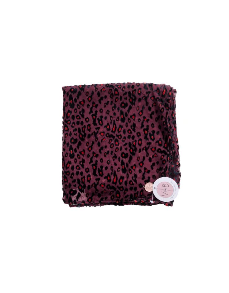 Valeri's Boutique Valeri's Boutique Leopard Velvet Scarf