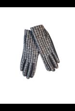 Memoi Memoi Houndstooth Gloves-MEG-HK908