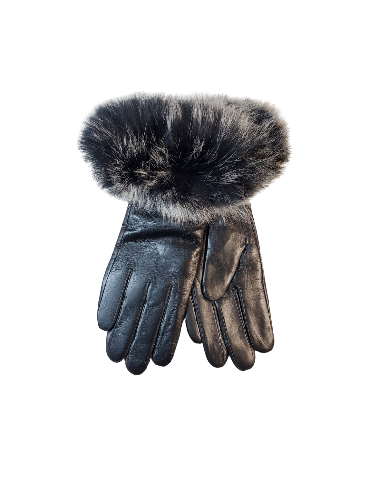 Memoi Memoi Ladies  Leather Gloves-MEG-HK910