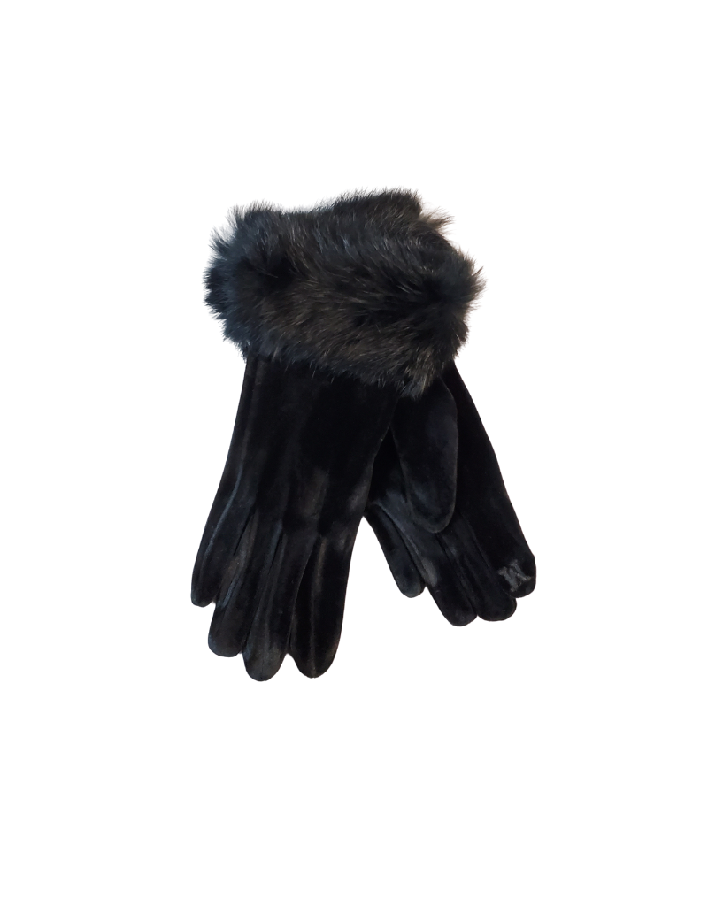 Memoi Memoi Velour Gloves-MEG-HK904