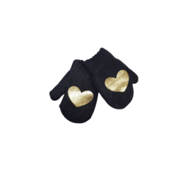 DaCee DaCee Knit Foil Heart Mittens