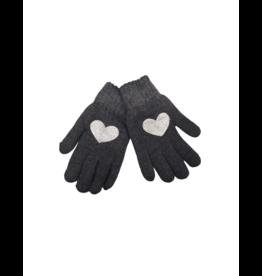 DaCee DaCee Girl  Knit Foil Heart Gloves
