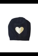 DaCee DaCee Girl Knit Foil Heart Hat