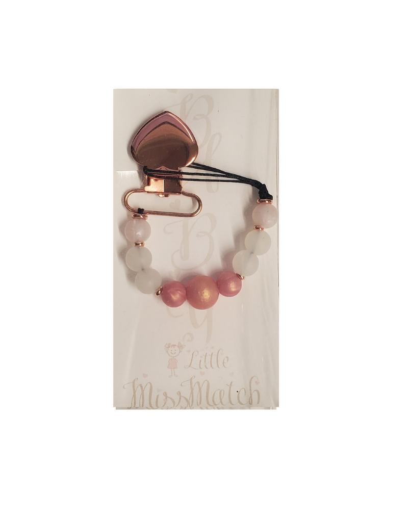 Little Missmatch Little Missmatch Heart Teething Pacifier Clip