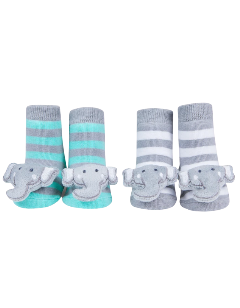 Waddle Waddle Elephant Rattle Socks