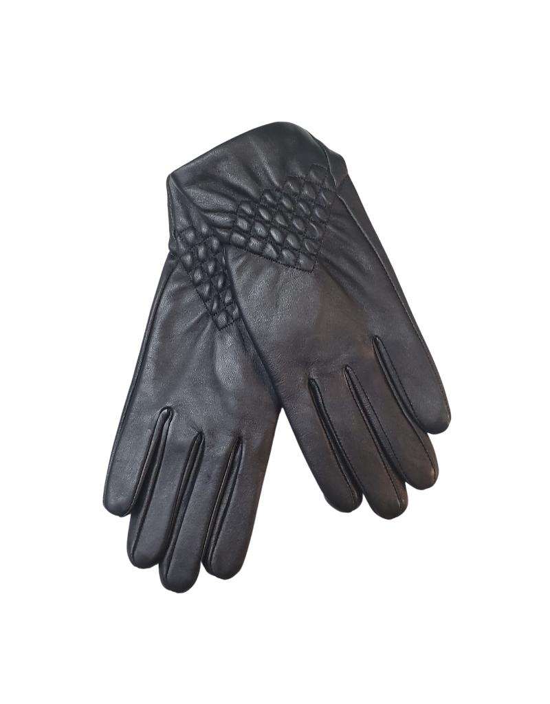 Memoi Memoi Adult Lamb Skin Shell Leather Gloves-W113