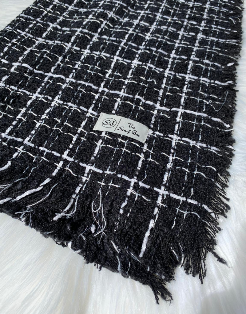 The Scarf Bar The Scarf Bar Luxe Tweed SB Blanket Scarf